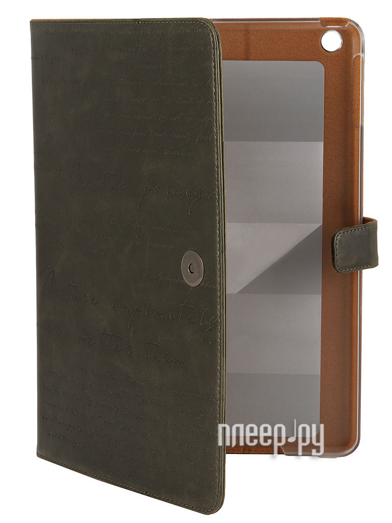 Аксессуар Чехол Zenus Masstige Lettering Diary for iPad Air 10 Deep Khaki  Pleer.ru  1140.000
