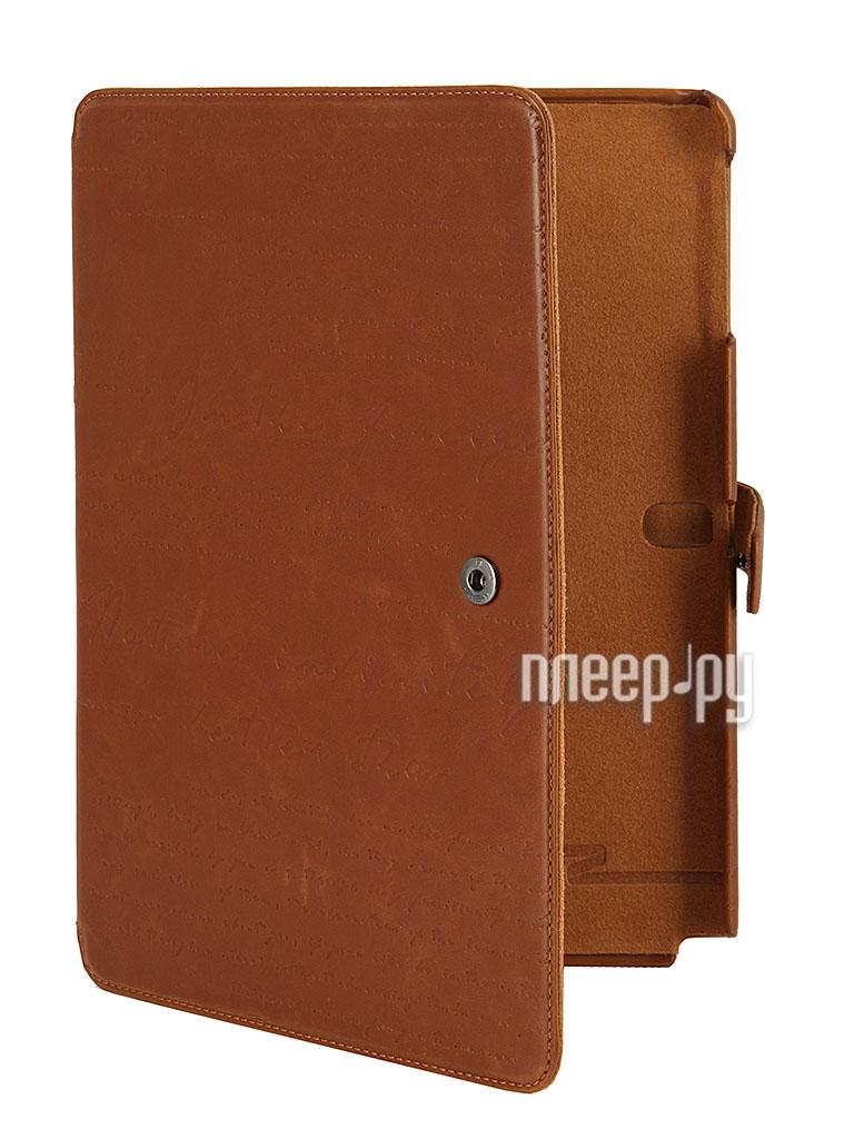 Аксессуар [Zenus] Чехол Samsung P6000/P6050 Galaxy Note 10.1 2014 Edition Zenus Lettering Diary Brown  Pleer.ru  1933.000
