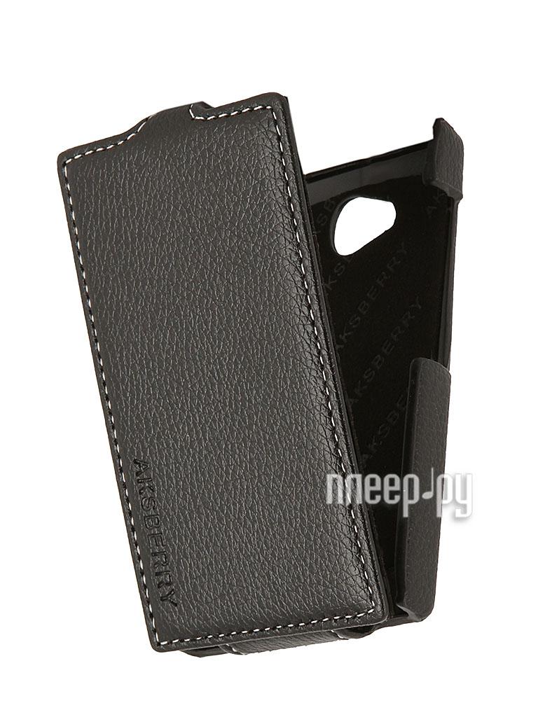 Аксессуар Чехол Nokia Asha 503 Aksberry Black  Pleer.ru  1129.000