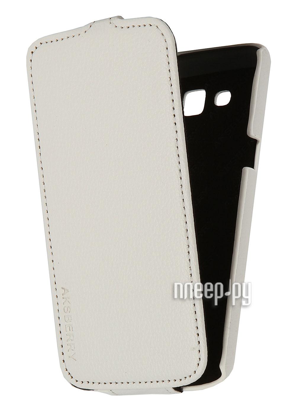 Аксессуар Чехол Samsung SM-G7102 Galaxy Grand 2 / Grand 2 Duos Aksberry White  Pleer.ru  1136.000