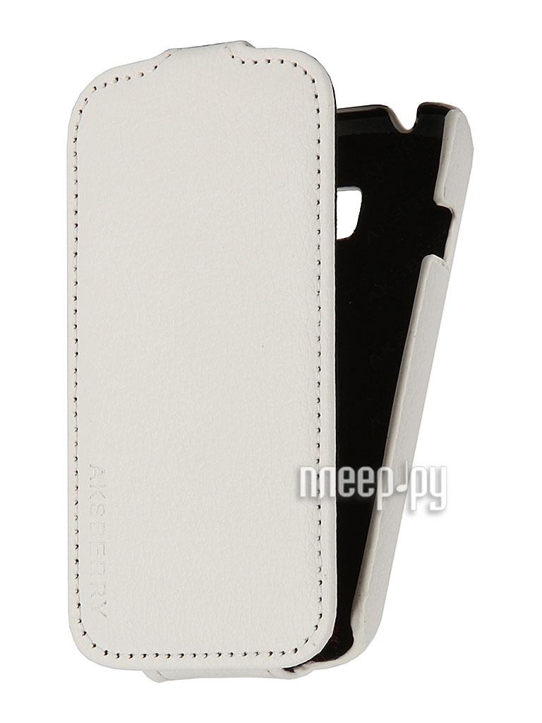 Аксессуар Чехол SamsungGT-S7262 Galaxy Star Plus Aksberry White  Pleer.ru  1129.000