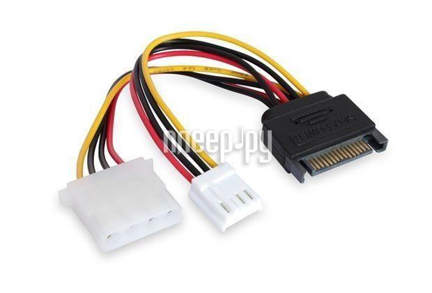 Аксессуар Greenconnect SATA 15pin-MOLEX 4pin + Molex FDD 4pin GC-ST214  Pleer.ru  137.000