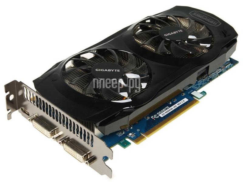 Видеокарта Gigabyte GeForce GTX 560 Ti 822Mhz PCI-E 2.0 1024Mb 4000Mhz 256 bit 2xDVI Mini-HDMI HDCP GV-N560UD-1GI  Pleer.ru  6268.000