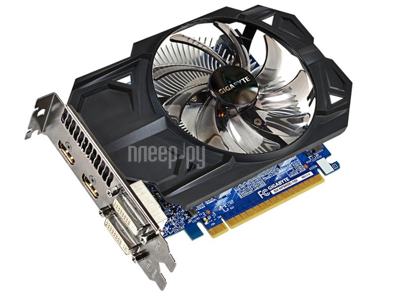 Видеокарта Gigabyte GeForce GTX 750 1059Mhz PCI-E 3.0 1024Mb 5000Mhz 128 bit 2xDVI 2xHDMI HDCP GV-N750OC-1GI  Pleer.ru  4116.000