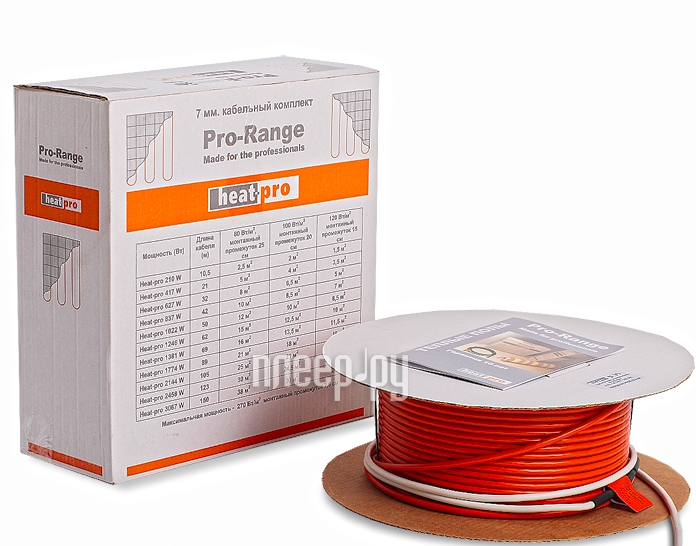 Теплый пол Heat-Pro 7mm 627W 7.0-0627  Pleer.ru  4485.000