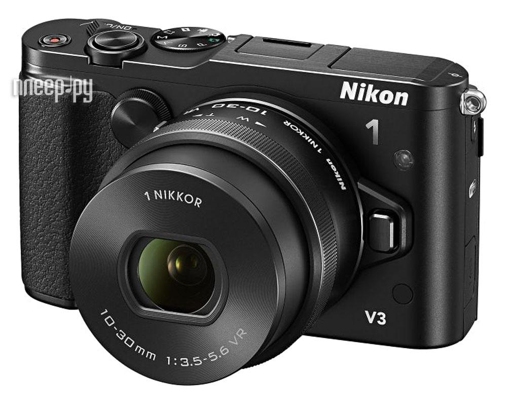 Фотоаппарат Nikon 1 V3 Kit 10-30 mm F/3.5-5.6 PD-Zoom VR Black