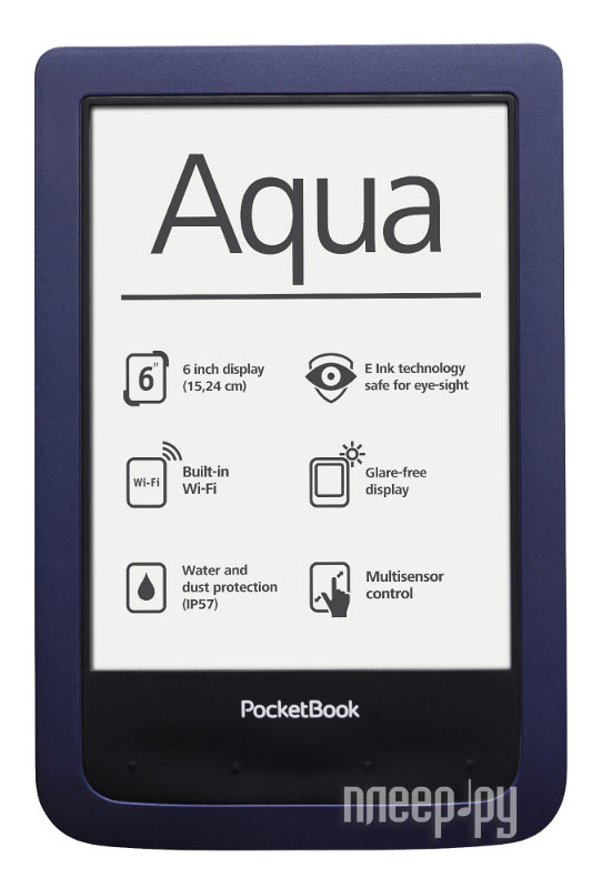 Электронная книга PocketBook Aqua 640  Pleer.ru  6225.000