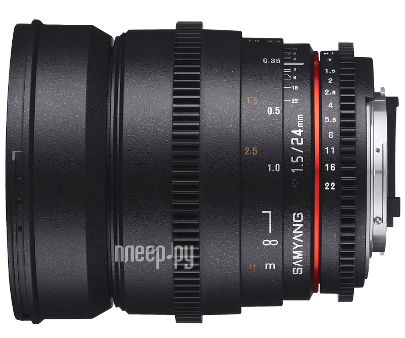 Объектив Samyang Canon MF 24 mm T1.5 ED AS UMC VDSLR  Pleer.ru  25955.000