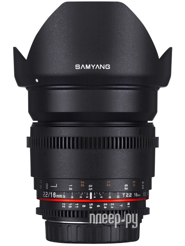 Объектив Samyang Nikon MF 16 mm T2.2 ED AS UMC CS VDSLR купить