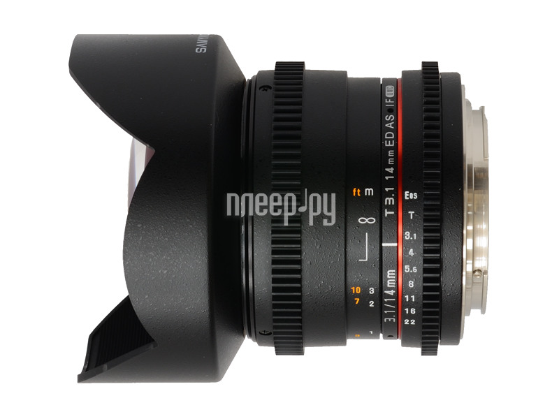 Объектив Samyang Sony / Minolta MF 14 mm T3.1 ED AS IF UMC VDSLR  Pleer.ru  16904.000