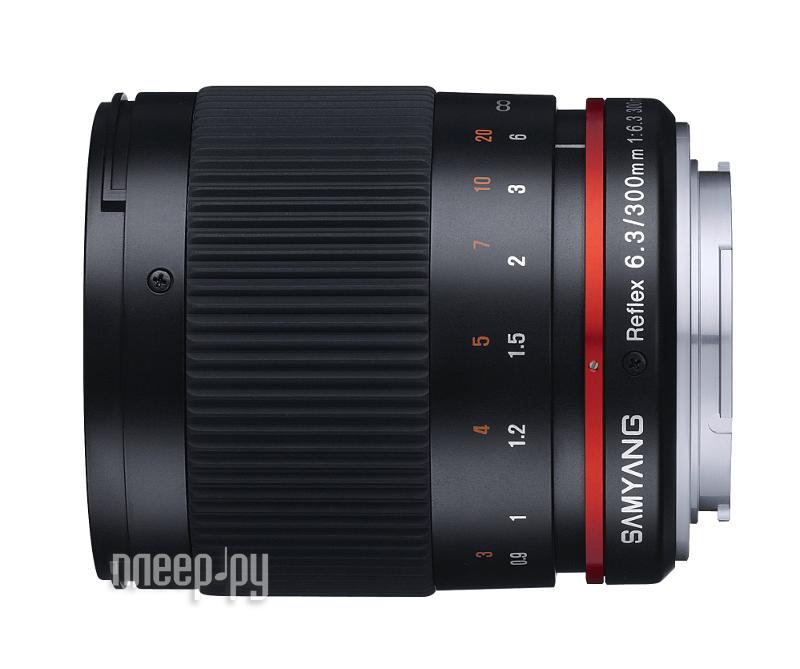 Объектив Samyang Olympus PEN / Panasonic 4/3 MF 300 mm f/6.3 Reflex ED UMC CS Black  Pleer.ru  11478.000