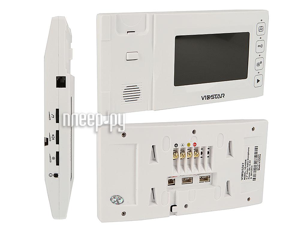 Видеодомофон VidStar VS-430M White  Pleer.ru  3502.000