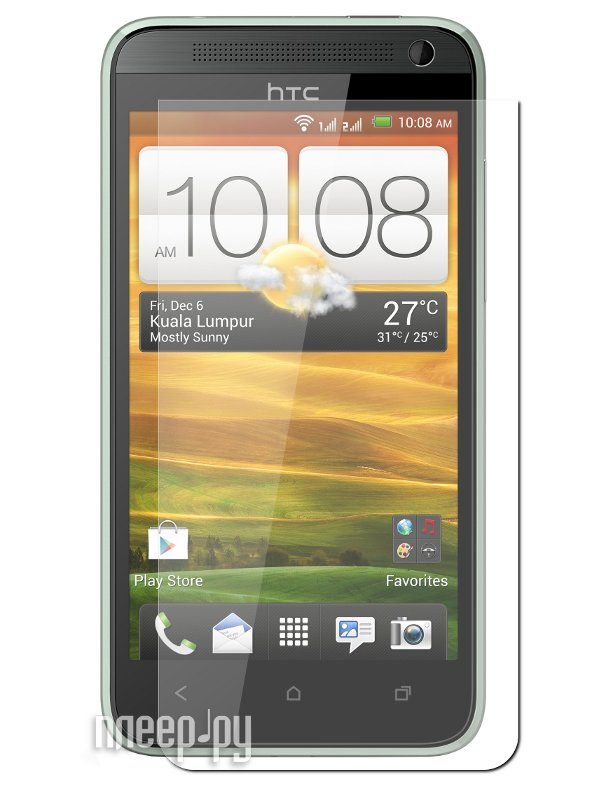 Аксессуар Защитная пленка HTC Desire 501/501 Dual LuxCase суперпрозрачная 80374  Pleer.ru  94.000