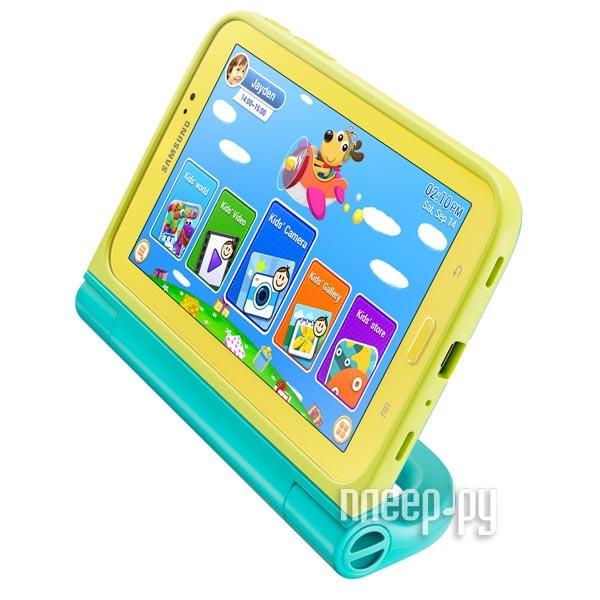 Аксессуар Чехол Samsung Galaxy Tab 3 7.0 SM-T210 Kids Grip Cover Kit Yellow-Green EF-PT210BMEGRU  Pleer.ru  898.000