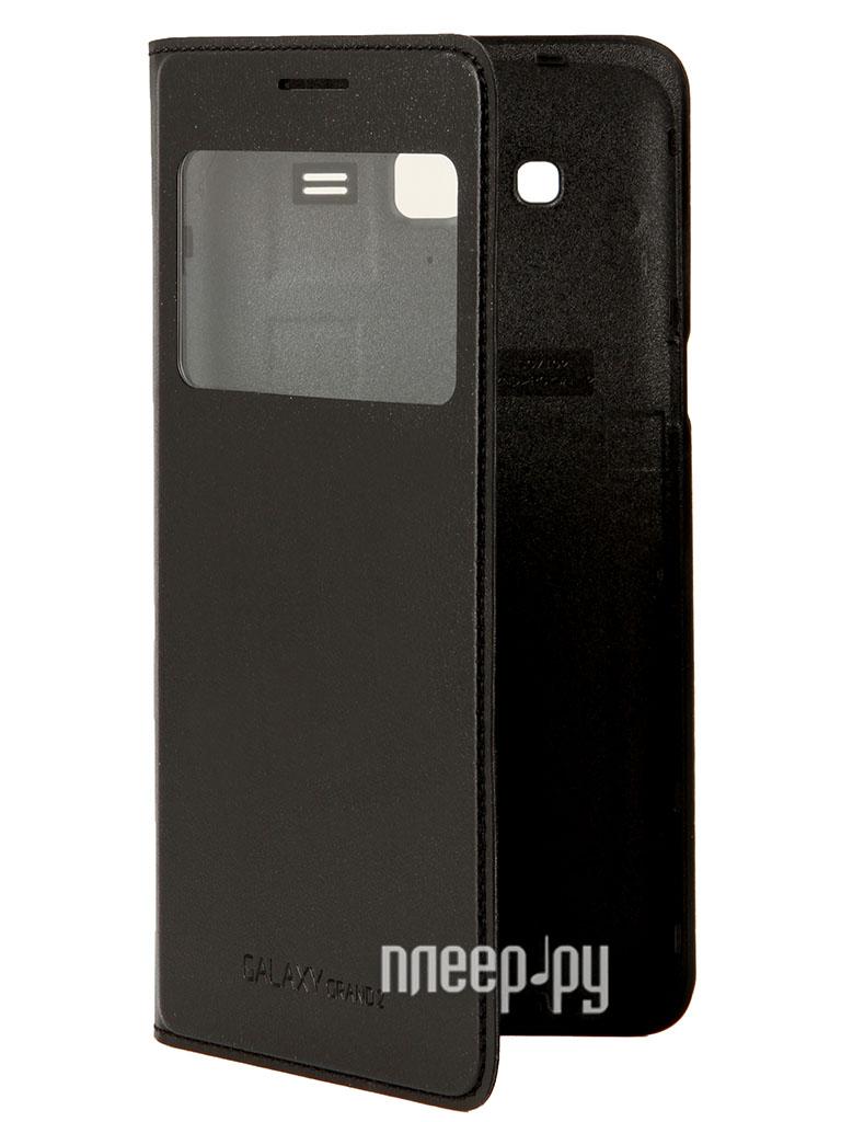 Аксессуар Чехол Samsung SM-G7102 Galaxy Grand 2 с флипом Black EF-CG710BBEGRU  Pleer.ru  1807.000