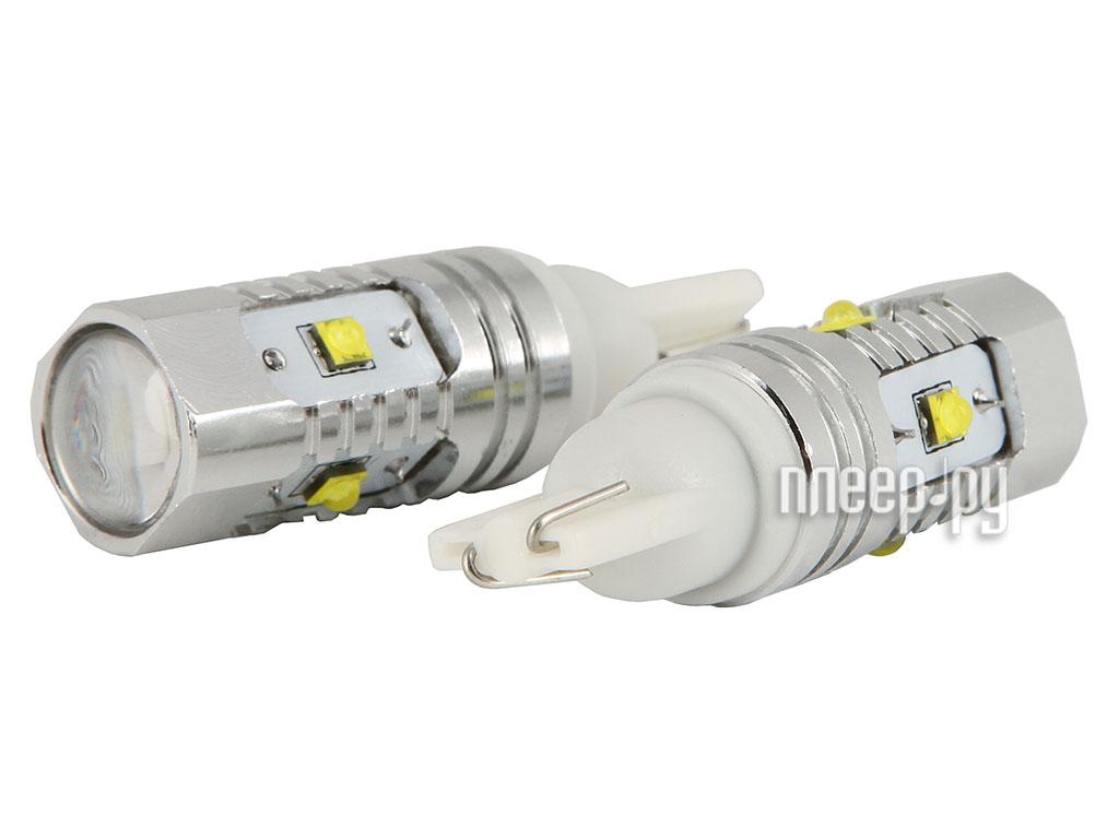 Светодиодная лампа Glare of Light Canbus T10 (W5W) 25W CREE 1515 (2 штуки)  Pleer.ru  1031.000