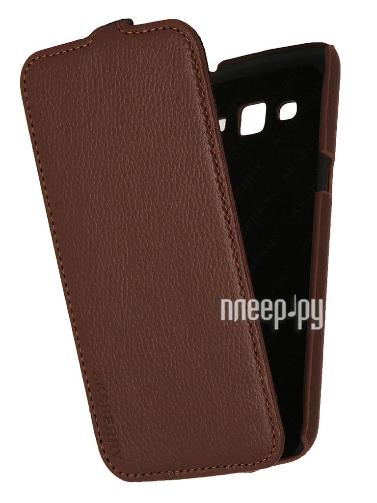 Аксессуар Чехол Samsung SM-G7102 Galaxy Grand 2 / Grand 2 Duos Aksberry Brown  Pleer.ru  1136.000