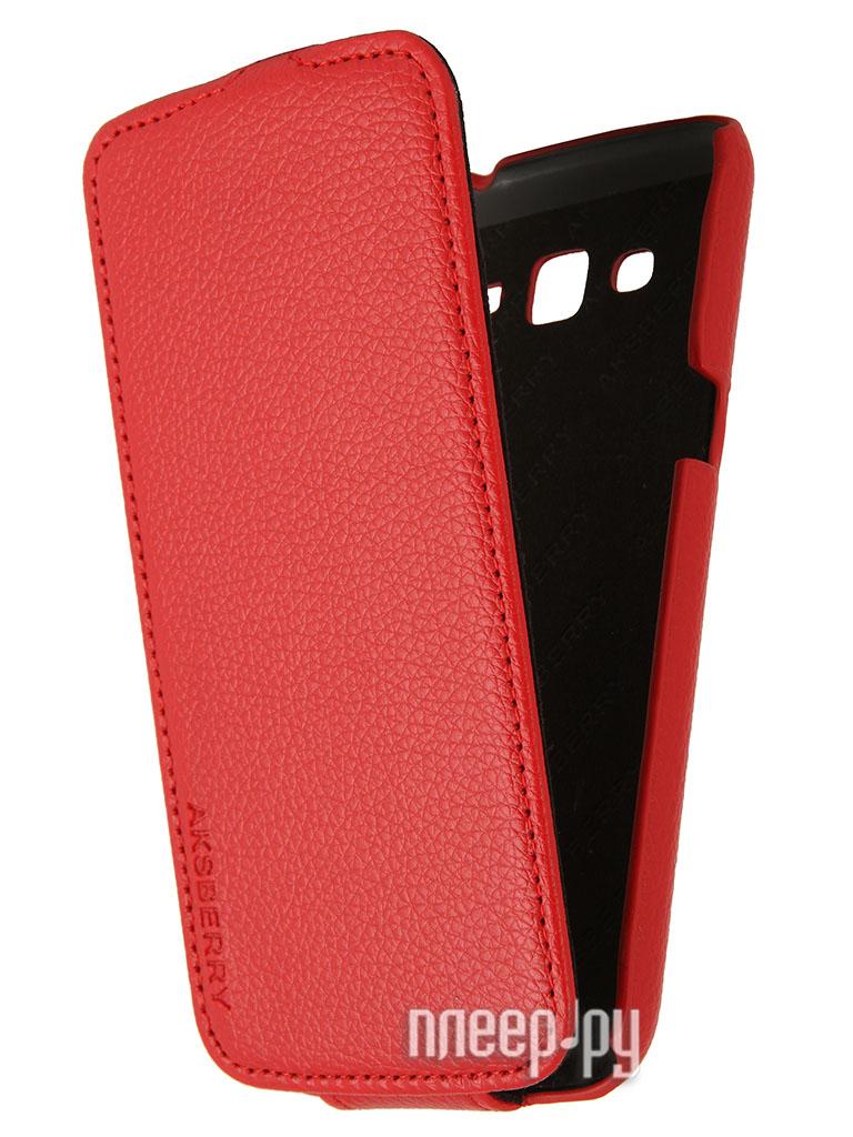 Аксессуар Чехол Samsung SM-G7102 Galaxy Grand 2 / Grand 2 Duos Aksberry Red  Pleer.ru  1136.000
