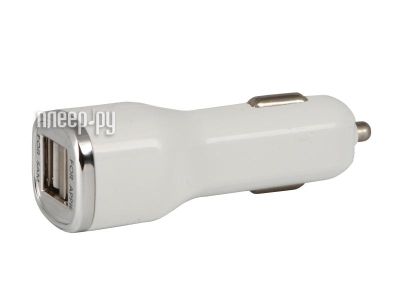 Зарядное устройство Ainy 2xUSB /1A/2A EB-018B White автомобильное  Pleer.ru  700.000