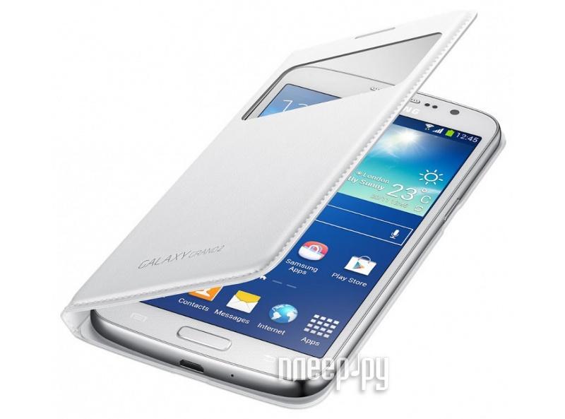 Аксессуар Чехол Samsung SM-G7102 Galaxy Grand 2 с флипом White EF-CG710BWEGRU  Pleer.ru  1806.000