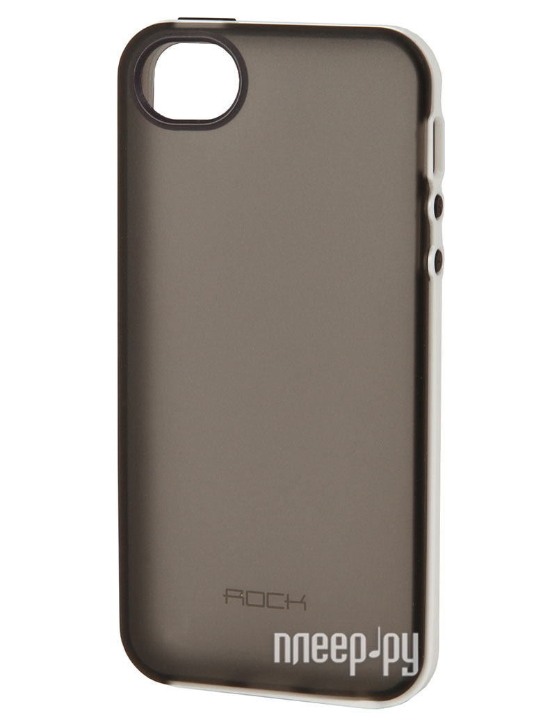Аксессуар Чехол ROCK Joyful Protective Shell for iPhone 5 / 5S Grey 24339  Pleer.ru  479.000