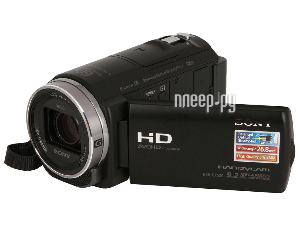 Видеокамера Sony HDR-CX530E Black  Pleer.ru  15398.000