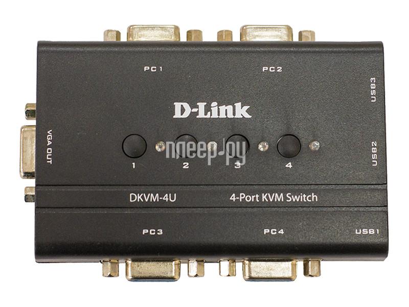 Переключатель KVM D-Link DKVM-4U  Pleer.ru  1806.000
