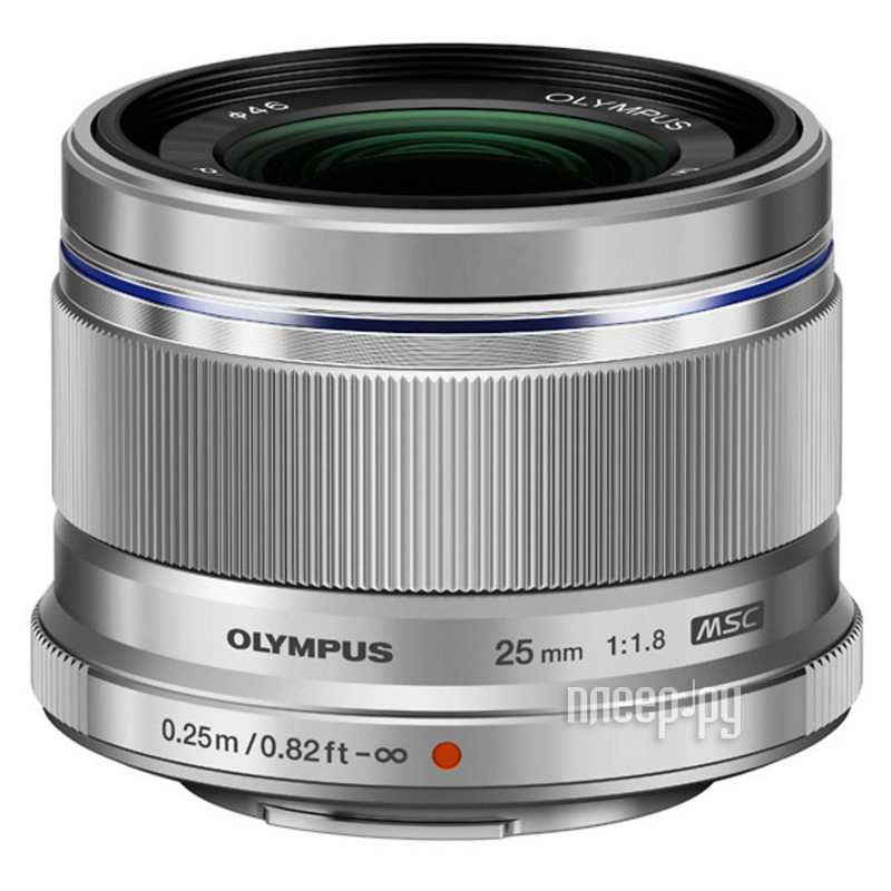 Объектив Olympus M.Zuiko Digital 25 mm f/1.8 for Micro Four Thirds Silver  Pleer.ru  17235.000
