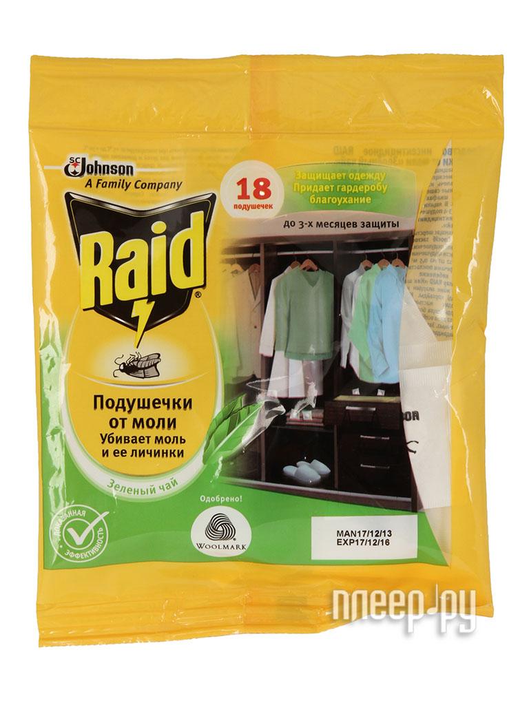 Средство защиты SC Johnson Raid подушечки от моли зелёный чай  Pleer.ru  192.000