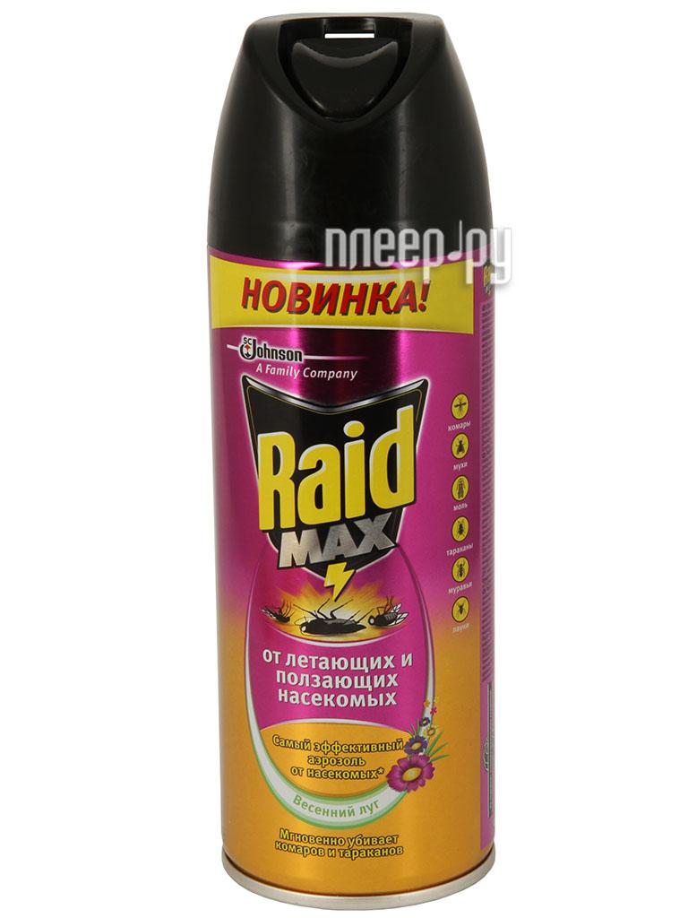 Средство защиты от комаров SC Johnson Raid аэрозоль от летающих и ползающих насекомых 300ml