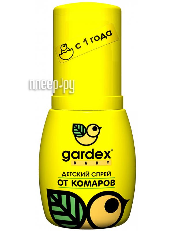 Средство защиты от комаров Gardex Baby спрей от комаров для детей с 2х лет 100мл