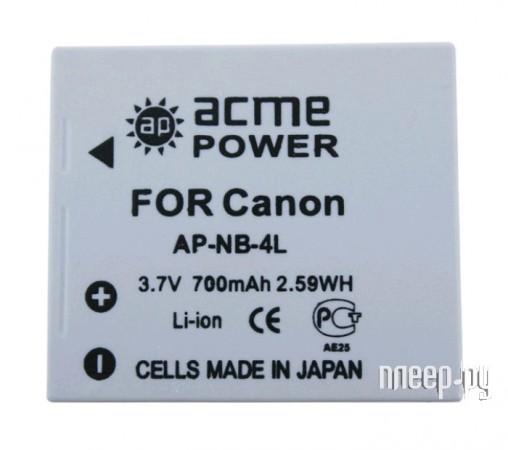 Аккумулятор AcmePower AP NB-4L  Pleer.ru  247.000
