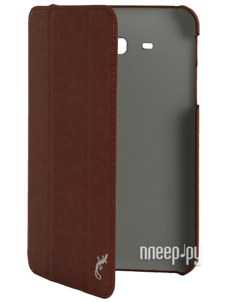 Аксессуар Чехол Galaxy Tab 3 7.0 T2100 / T2110 G-Case Slim Premium Brown GG-279  Pleer.ru  1101.000