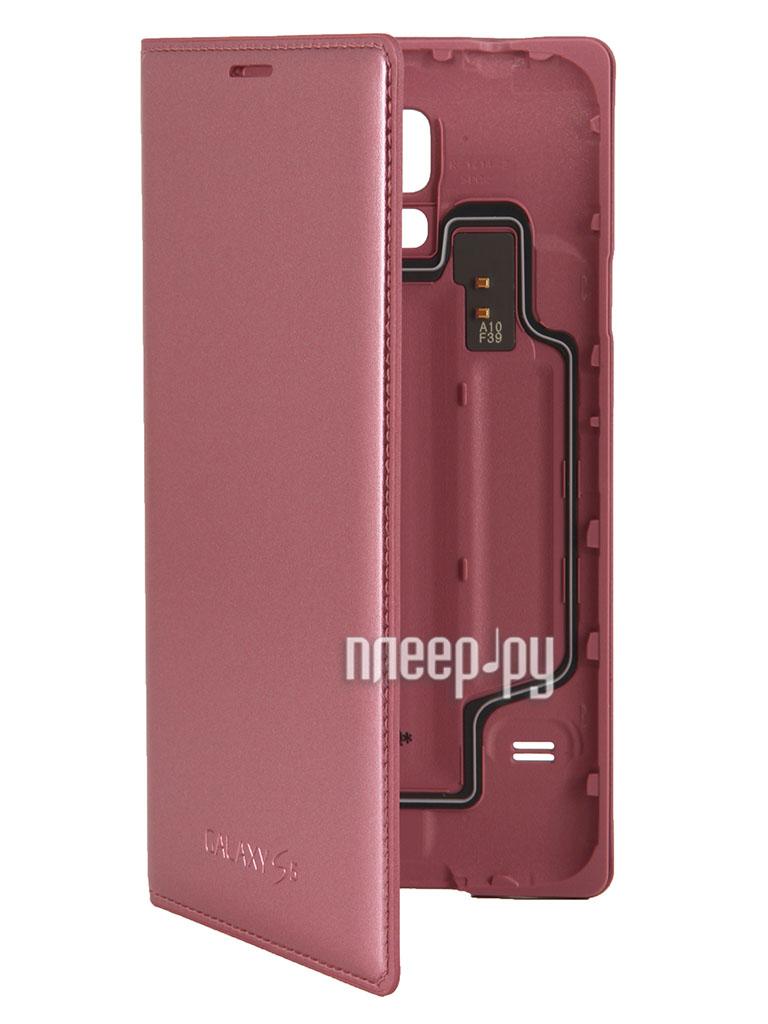 Аксессуар Чехол Samsung SM-G900F Galaxy S5 Flip EF-WG900BPEGRU Pink  Pleer.ru  1006.000