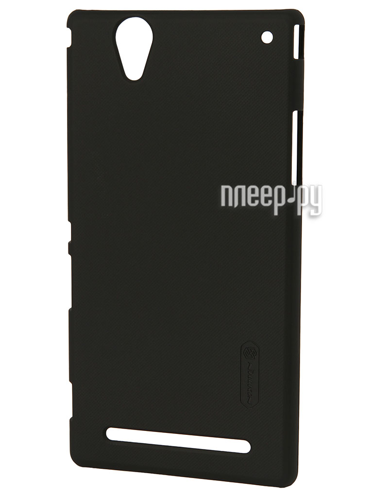 Аксессуар Чехол-накладка Nillkin for Sony Xperia T2 Ultra XM50h Super Frosted Shield Black  Pleer.ru  1100.000