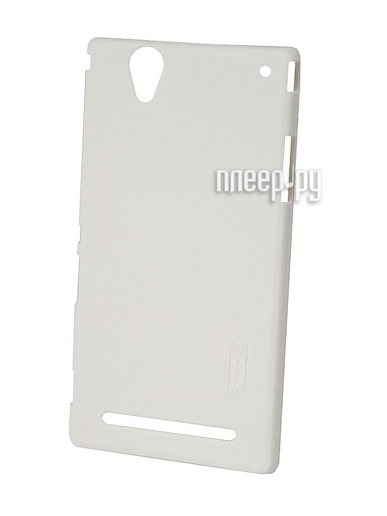Аксессуар Чехол-накладка Nillkin for Sony Xperia T2 Ultra XM50h Super Frosted Shield White  Pleer.ru  1100.000