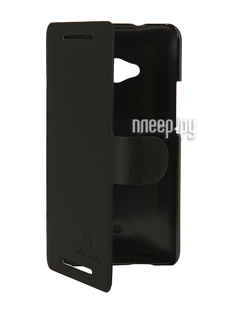 Аксессуар Чехол HTC One 802t Dual Sim Nillkin Fresh Series Black T-N-H802t-001  Pleer.ru  1199.000