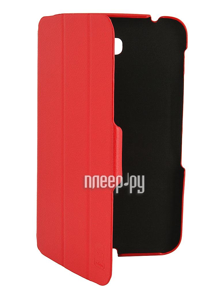 Аксессуар Чехол Samsung Galaxy Tab 3 7.0 P3200 / T210 / T211 EcoStyle Shell Red esc-0020  Pleer.ru  970.000