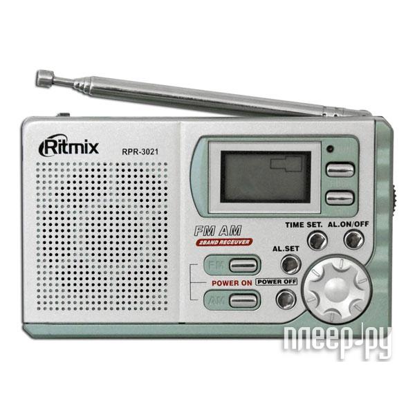 Радиоприемник Ritmix RPR-3021 Silver  Pleer.ru  349.000