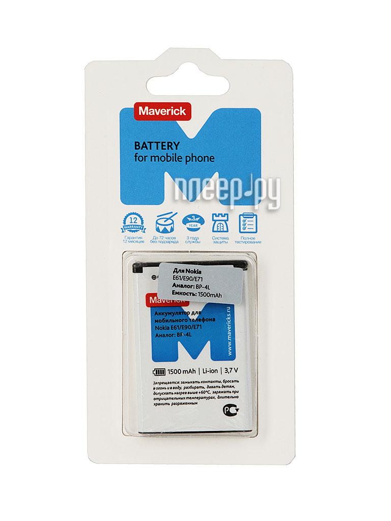 Аксессуар Аккумулятор Nokia BP-4L Maverick 1500mAh 0730  Pleer.ru  681.000