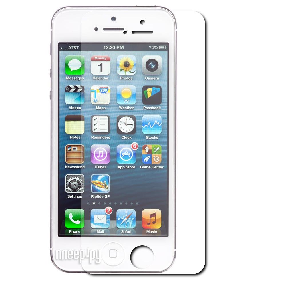 Аксессуар Стекло противоударное Ainy 0.15mm for iPhone 5 переднее + защитная пленка задняя  Pleer.ru  760.000