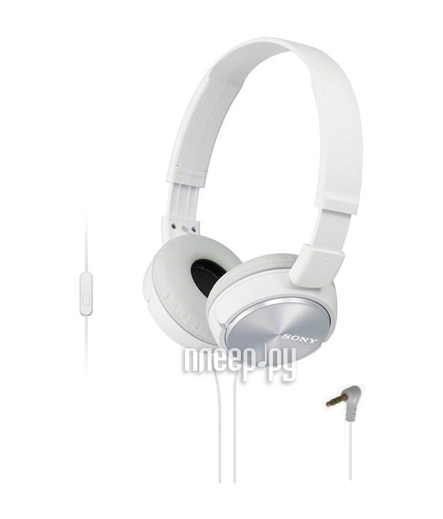 Гарнитура Sony MDR-ZX310AP White  Pleer.ru  1127.000