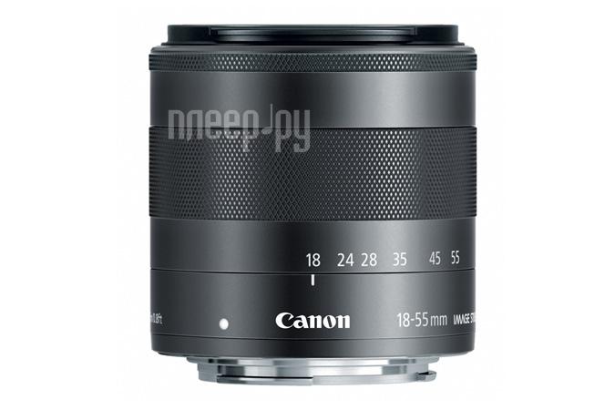 Объектив Canon EF-M 18-55 mm F/3.5-5.6 IS STM  Pleer.ru  3401.000