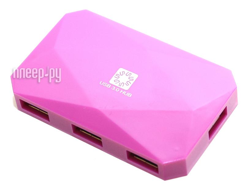 Хаб USB 5bites HB34-301PPU USB 4 ports Purple
