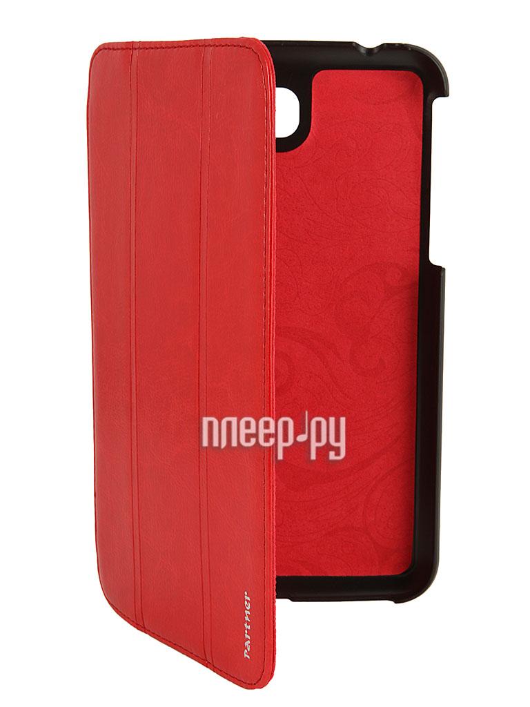 Аксессуар Чехол Samsung Galaxy Tab 3 7.0 T2100 Partner SmartCover Red  Pleer.ru  880.000