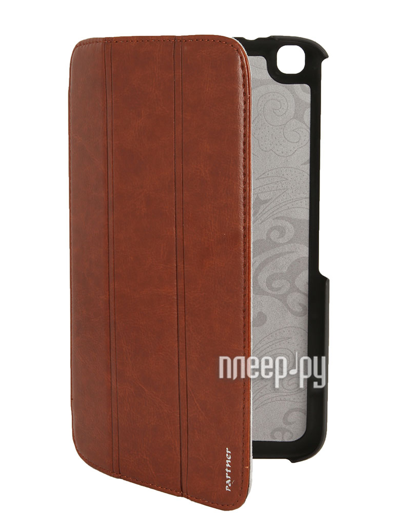 Аксессуар Чехол Samsung Galaxy Tab 3 8.0 T3100 Partner SmartCover Brown  Pleer.ru  854.000