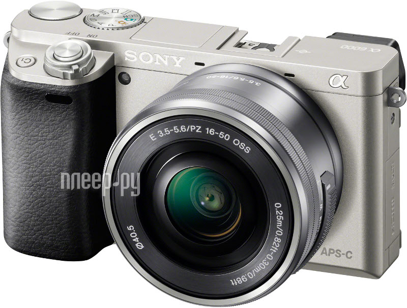 Фотоаппарат Sony Alpha A6000 Kit 16-50 mm F/3.5-5.6 E OSS PZ Silver  Pleer.ru  27138.000