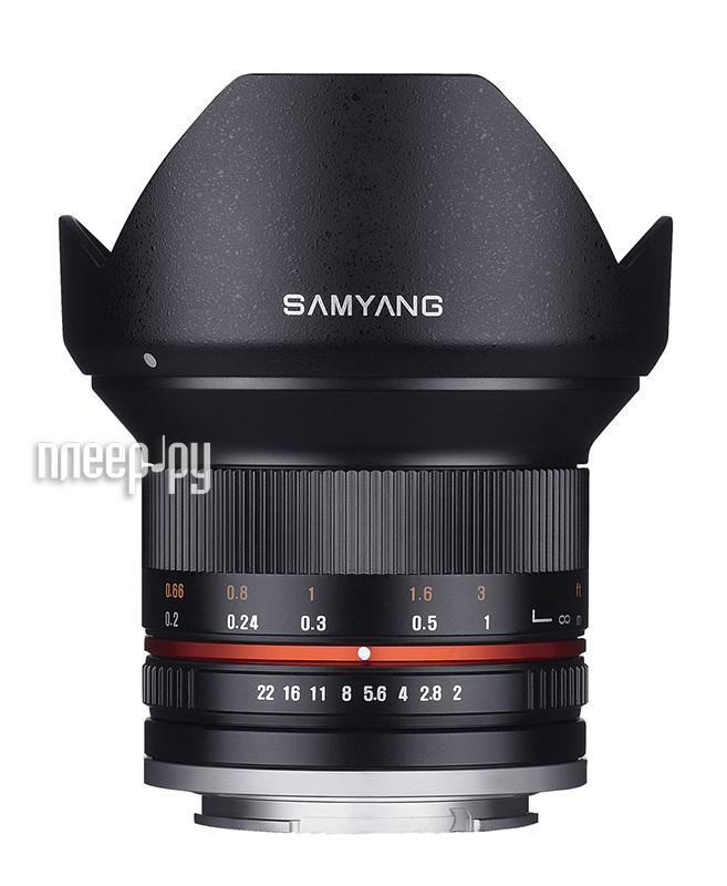 Объектив Samyang Sony E NEX MF 12 mm F/2.0 NCS CS Black  Pleer.ru  13467.000