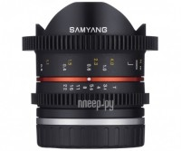 Объектив Samyang Sony E NEX MF 8 mm T3.1 Cine UMC Fish-eye II VDSLR