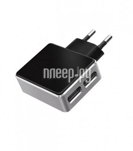 Зарядное устройство Deppa Ultra 2xUSB 3100mA Black 11309 сетевое  Pleer.ru  932.000